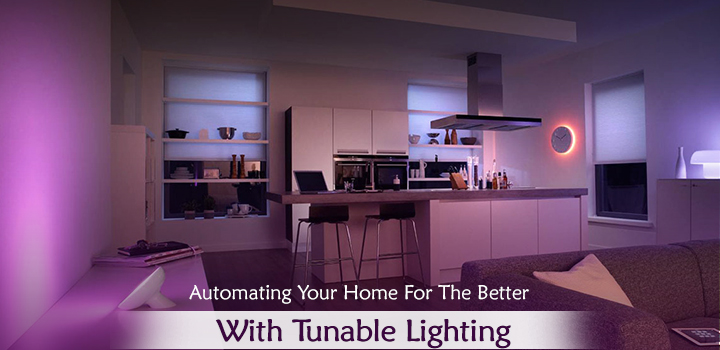 Home automation with tunable lighting by Delfin automation Chennai